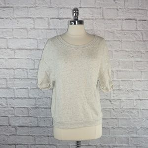 Juicy Couture White Gray Heathered Sweater